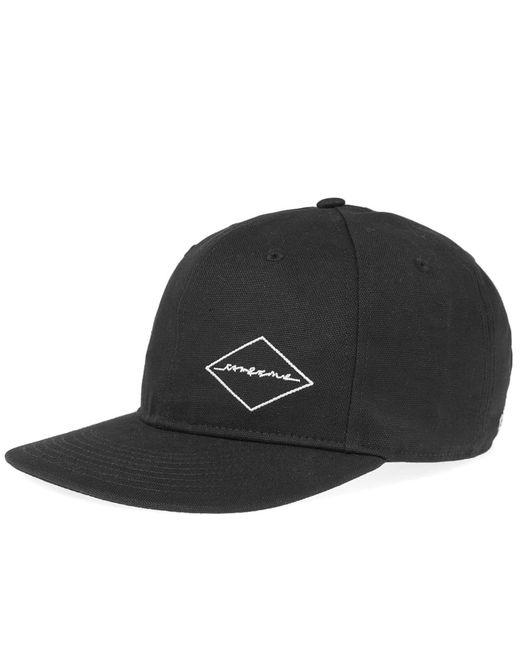 Rag & Bone - Black Dylan Diamond Baseball Cap for Men - Lyst