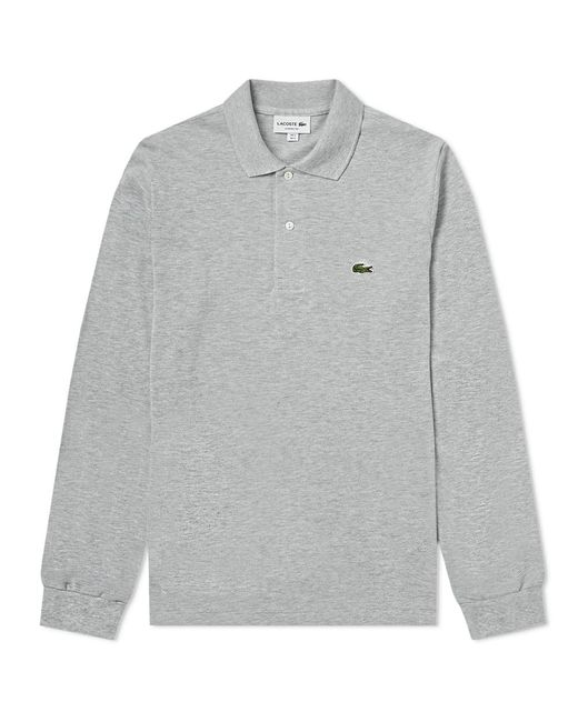 7a5c3f74c1a579 Lacoste Long Sleeve Marl Pique Polo in Gray for Men - Save 35% - Lyst