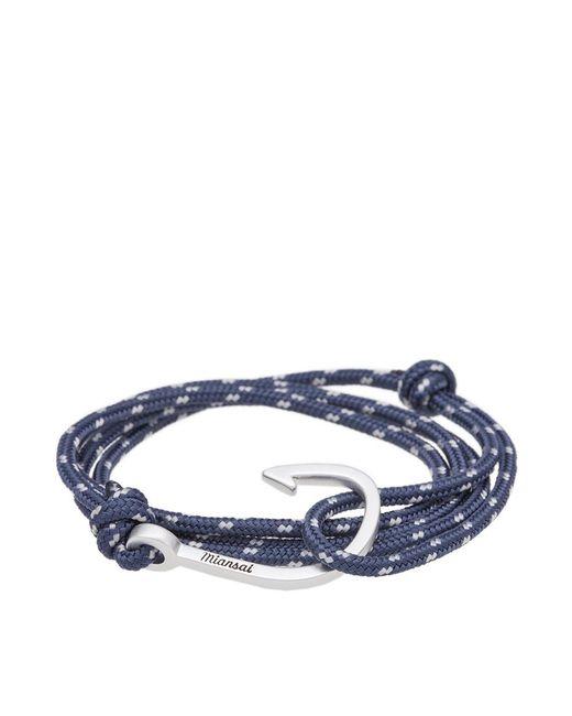 Miansai | Blue Silver Hook Rope Bracelet for Men | Lyst