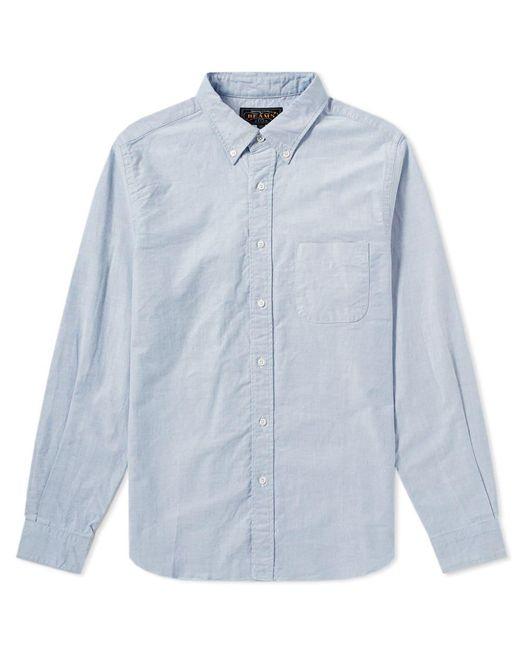 Beams Plus - Blue Button Down Oxford Shirt for Men - Lyst