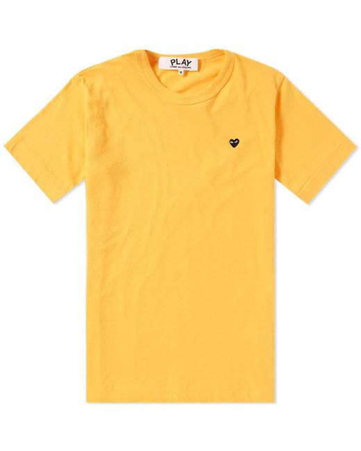 Play Comme des Garçons - Yellow Comme Des Garcons Play Women's Colour Series Logo Tee - Lyst