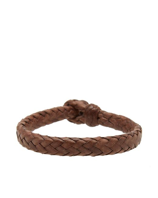 Chamula - Brown Wide Flat Woven Bracelet for Men - Lyst