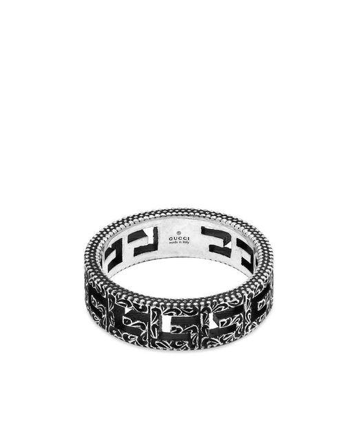 Gucci Metallic G Cube Ring for men