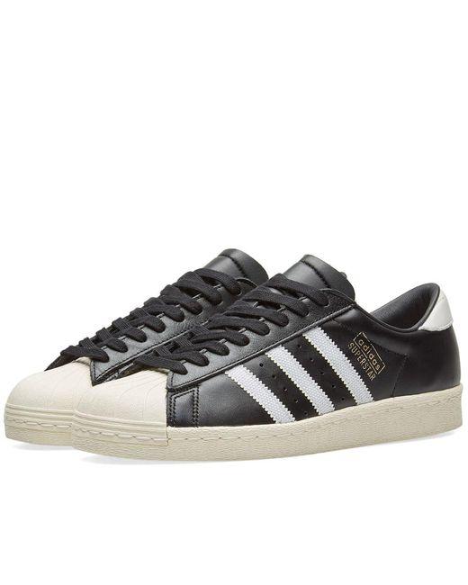 Adidas - Black Superstar Og for Men - Lyst