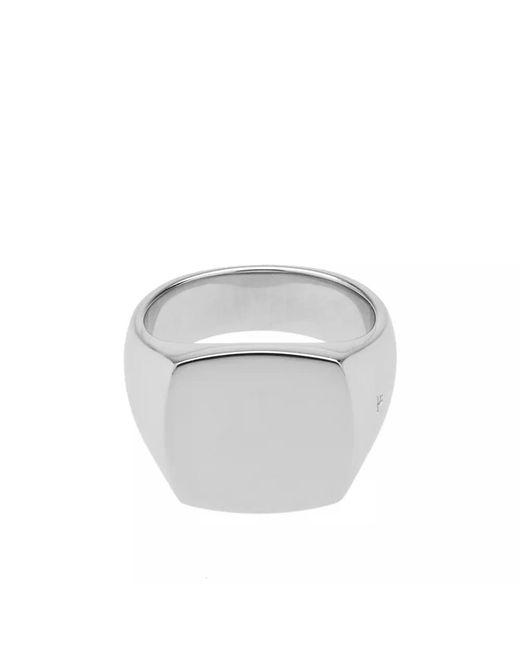 Tom Wood - Metallic Cushion Polished Ring for Men - Lyst