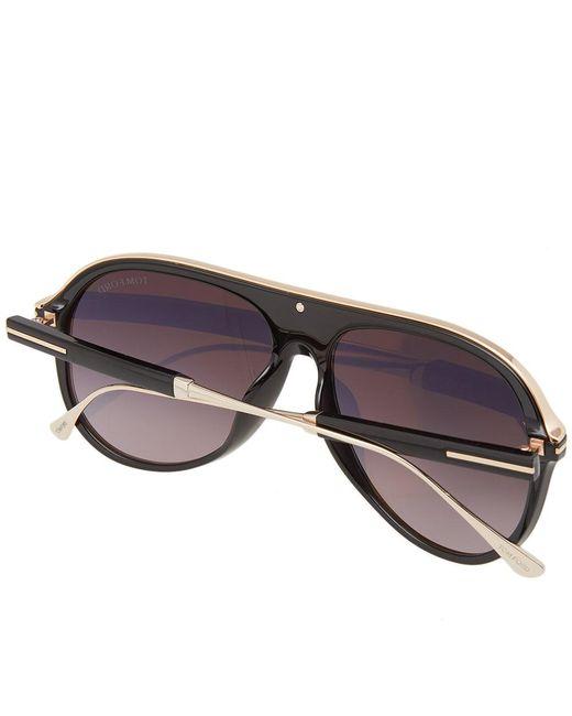 ddeeae900b7 ... Tom Ford - Black Tom Ford Ft0624 Nicholai-02 Sunglasses for Men - Lyst  ...