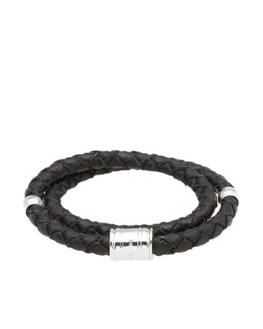 Miansai - Black Silver Casing Leather Bracelet - Lyst