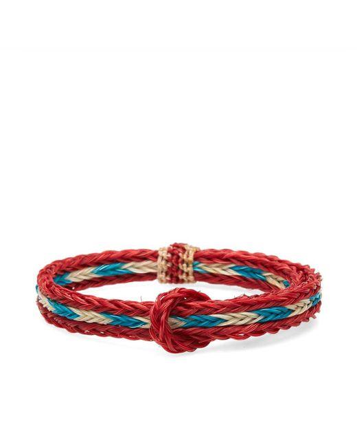 Chamula - Red Braided Horsehair Bracelet - Lyst