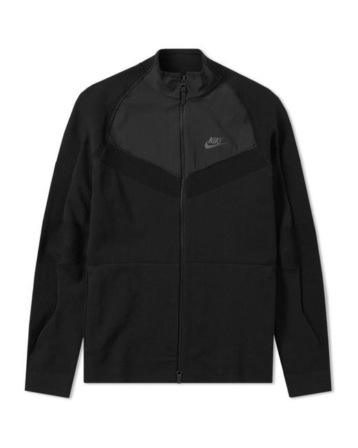 Nike - Black Tech Knit Jacket for Men - Lyst