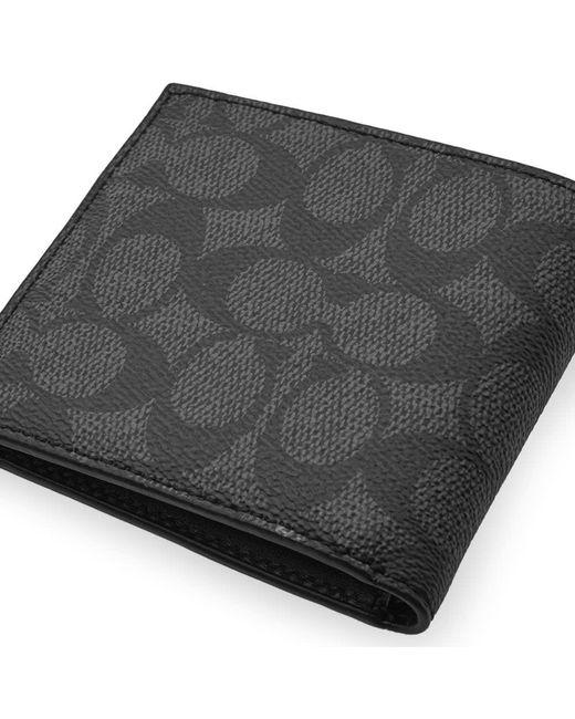 ab50dc3d9ce8 ... COACH - Black Rexy Signature Billfold Wallet for Men - Lyst ...