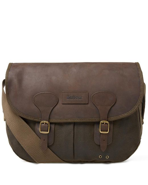 Barbour - Green Wax Leather Tarras - Lyst