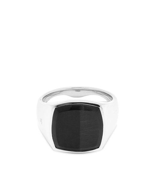 Tom Wood Metallic Cushion Ring for men