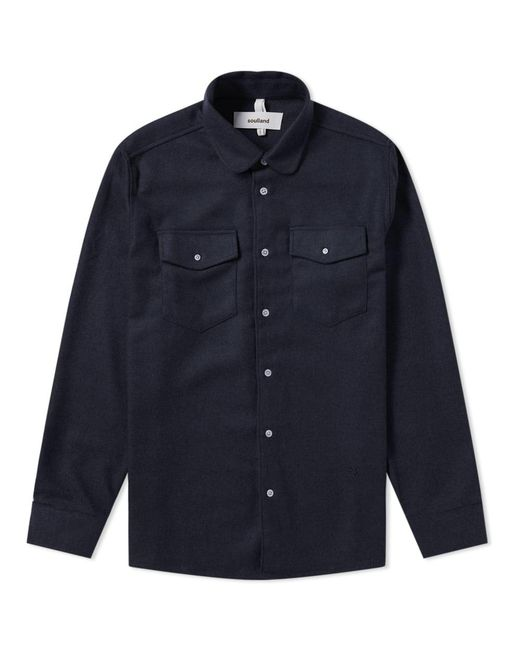 Soulland - Blue Tom Flannel Shirt for Men - Lyst