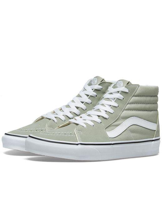 d44b324e2729 Vans - Green Sk8-hi for Men - Lyst ...