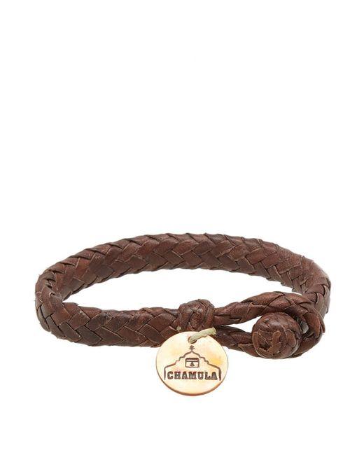 Chamula - Brown Wide Flat Woven Bracelet for Men - Lyst