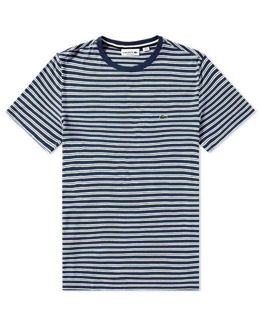 Lacoste - Blue Stripe Jersey Tee for Men - Lyst