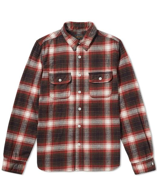 Beams Plus | Red Flannel Work Shirt for Men | Lyst