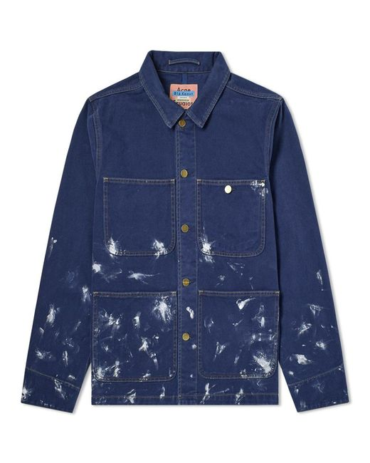 Acne - Blue Trucker Jacket for Men - Lyst
