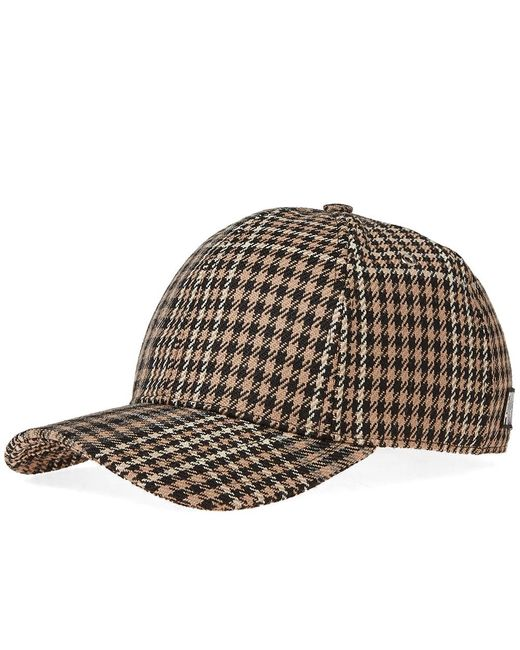 AMI - Brown Checked Baseball Cap for Men - Lyst