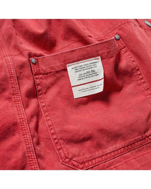 6a81ffcb1d0a ... Nigel Cabourn - Red X Lybro Field Jacket for Men - Lyst ...