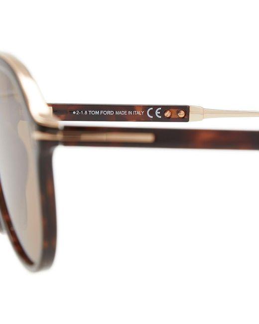 af4b0efabb63 ... Tom Ford - Brown Tom Ford Ft0624 Nicholai-02 Sunglasses for Men - Lyst  ...