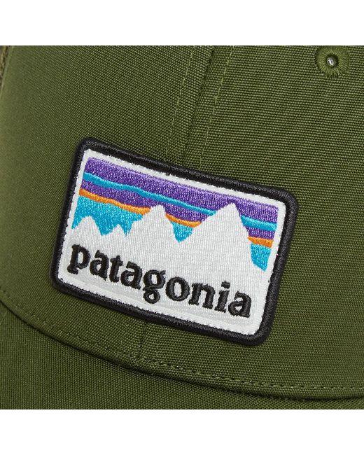 f1c99077d6682 ... Patagonia - Green Shop Sticker Patch Trucker Cap for Men - Lyst ...