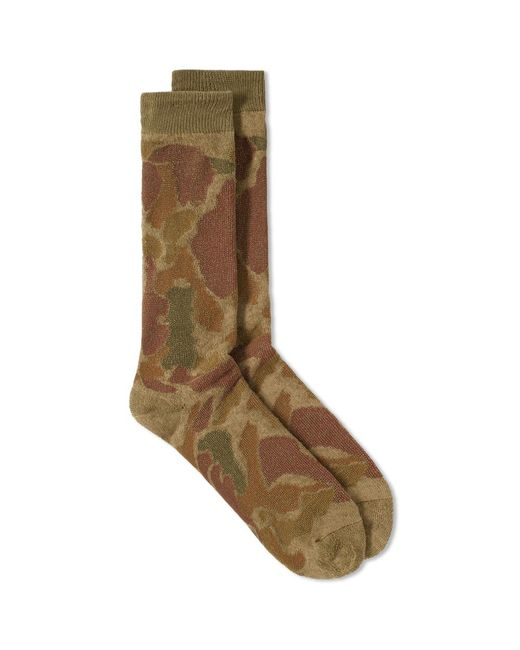 Anonymous Ism | Green Camo Pile Crew Sock for Men | Lyst