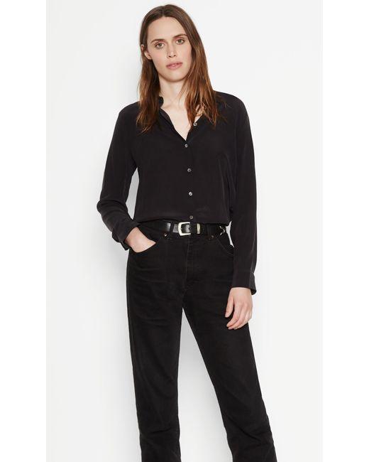 Equipment essential silk shirt in black lyst for Equipment black silk shirt