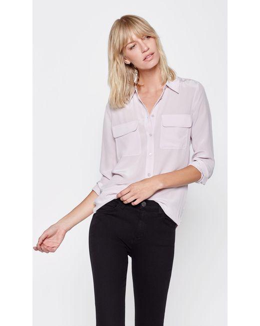 Equipment | Pink Slim Signature Silk Shirt | Lyst