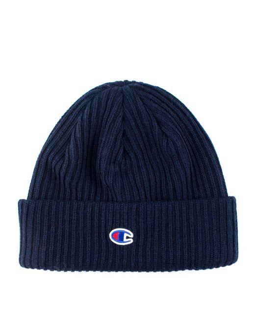 68c9c5e5e6b Champion Logo Beanie in Blue for Men - Save 29% - Lyst