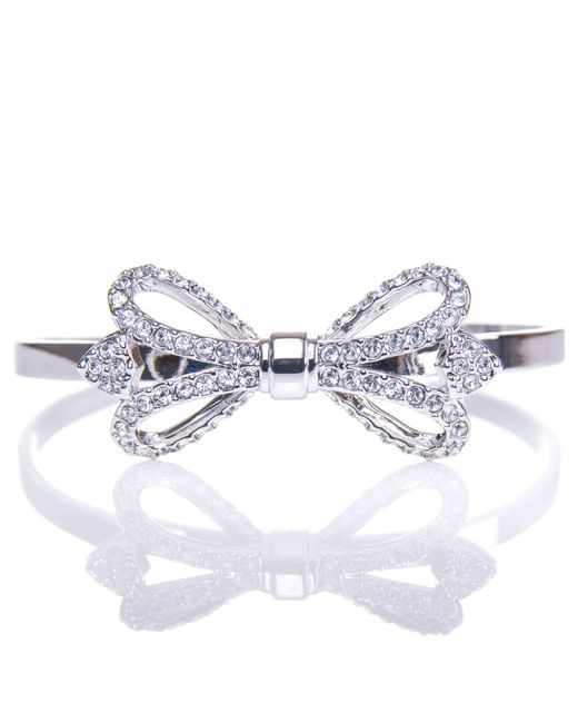 Ted Baker - Metallic Hediie Ornate Bow Crystal Cuff - Lyst