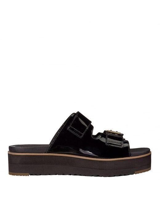 Ugg - Black Cammie Platform Sandal - Lyst