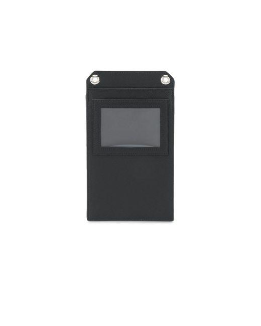 4b404da61 ... Prada - Black Small Detachable Strap Leather Pouch for Men - Lyst ...
