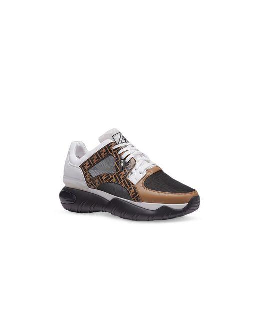fead627eaa Fendi Chunky Monogram Runner Sneakers in Brown for Men - Save 30% - Lyst