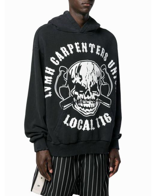 bc95260c1d0 ... Warren Lotas - Black Carpenters Union Print Hoodie for Men - Lyst ...