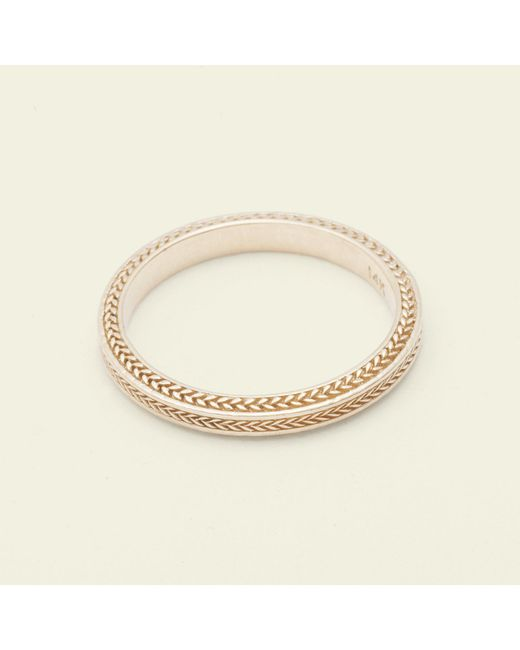 Erica Weiner - Metallic Chevron Band (14k Yellow Gold) - Lyst