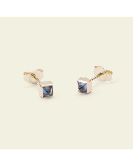 Erica Weiner - Blue Pyramid Earrings (sapphire) - Lyst