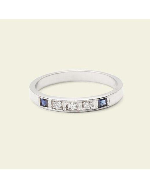 Erica Weiner - Metallic Esther Ring (white Gold, Sapphires) - Lyst