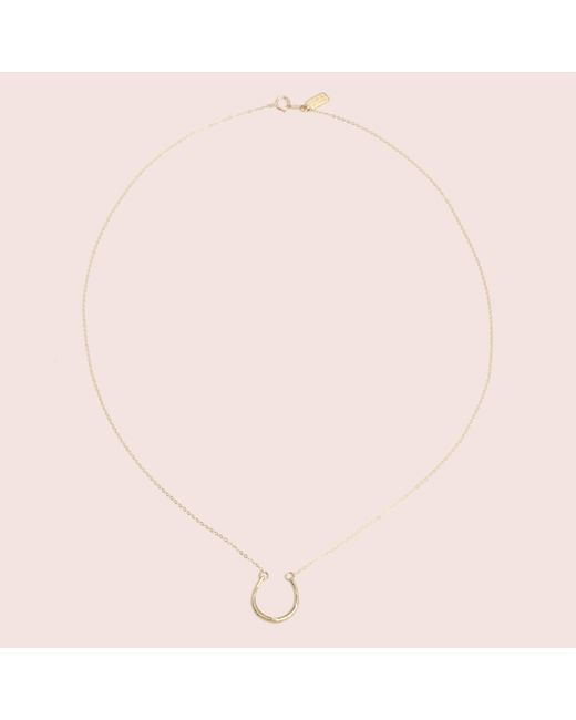 Erica Weiner - Metallic Lucky Horseshoe Necklace - Lyst