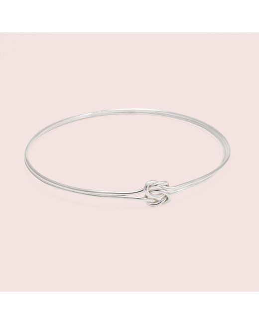 Erica Weiner - Pink Lover's Knot Bracelet (silver) - Lyst