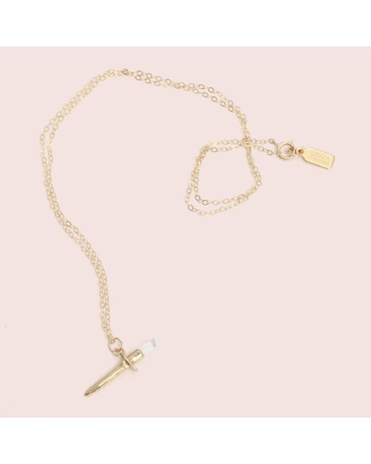 Erica Weiner - Metallic Dagger Necklace - Lyst