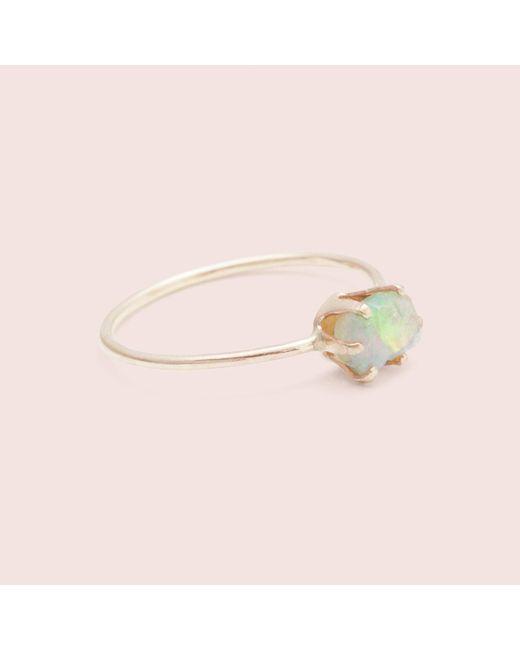 Erica Weiner - Pink Rough Gem Ring (opal) - Lyst