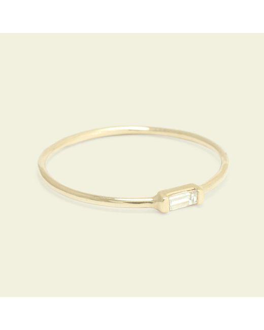 Erica Weiner - Metallic Diamond Baguette Ring (yellow Gold) - Lyst