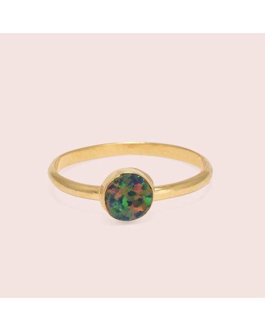 Erica Weiner - Black Golden Circle Opal Rings - Lyst