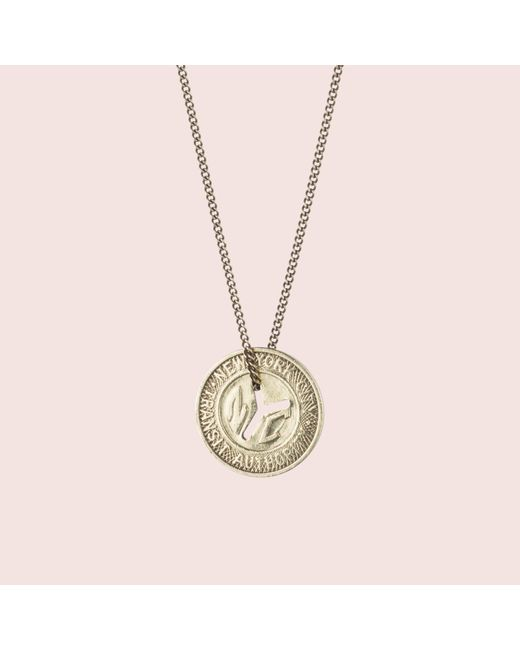 Erica Weiner | Metallic Ny Transit Token Necklace (small) | Lyst