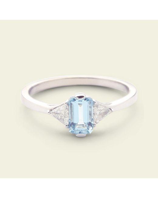 Erica Weiner - Multicolor Poseidon Aquamarine And Diamond Ring - Lyst