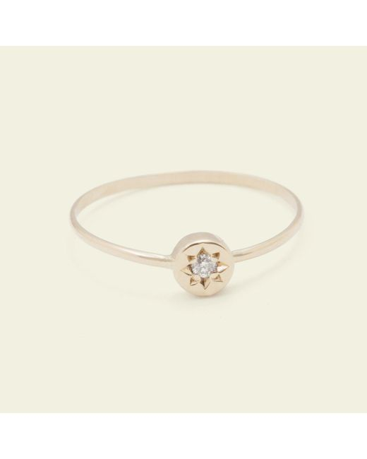 Erica Weiner - Pink Gypsy Spark Ring (14k Yellow Gold) - Lyst