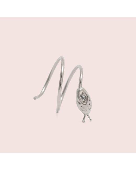 Erica Weiner - Pink Snake Double Corkscrew Earring (silver) - Lyst
