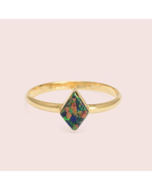 Erica Weiner - Black Golden Parallelogram Opal Rings - Lyst