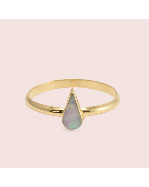 Erica Weiner | White Golden Teardrop Opal Rings | Lyst